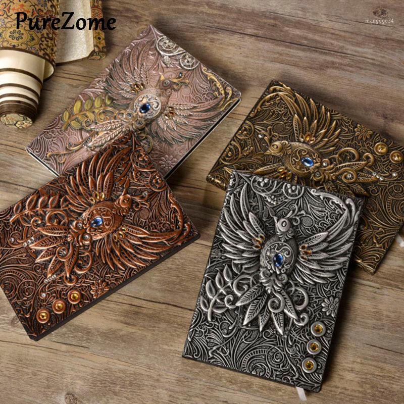 Старинные ретро Phenix Long Life Bird Theme Clined Paper Bote Bote Book Book 100 листов журнал школьные кабинетные материалы1