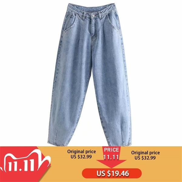 Toppies Denim-hohe Taillen-Harem-Hosen 2020 lose Jeans plus Größe Hose Women Casual Street Pantalon Femme C1111