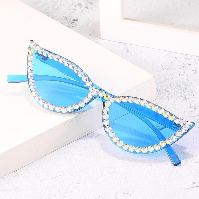 Occhiali da sole Candy UV4001 per 2020 Sun Strass Giallo Oculos Occhiali Colore Piccole Donne Shades Rimless Shades Rosa FeminaNino Donne BFCNS