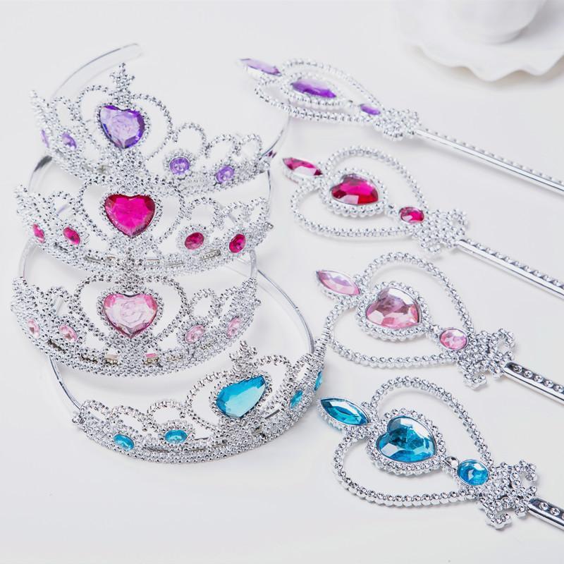 Mode Multi Choix Princesse Accessoires de cheveux de la Couronne et Magic Stick Birthday Party et cosplay accessoires cheveux avec des gants Princesse
