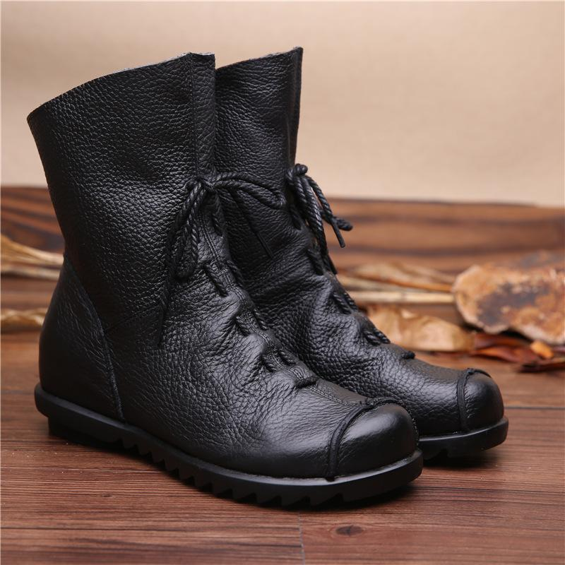 Top CEVABULE qualidade genuína curto Original tornozelo Quente couro macio Mulheres inferiores Botas ZXW-1806