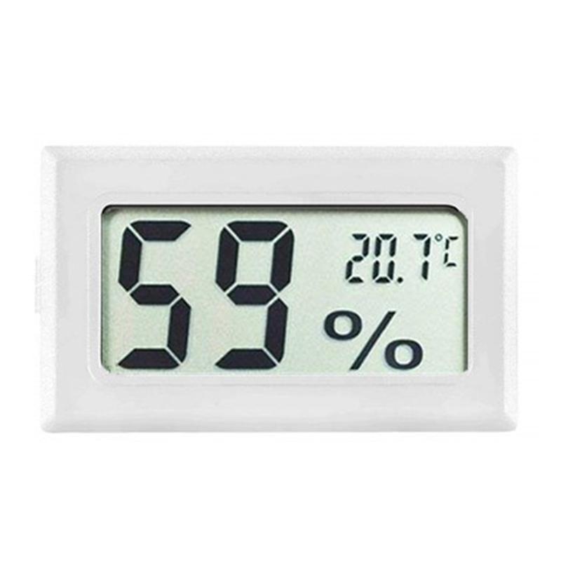 FY-11 البسيطة LCD ميزان الحرارة الرقمي البيئة رطوبة أسود أبيض الرطوبة درجة الحرارة متر في الغرفة ثلاجة ثلاجة DBC BH4157