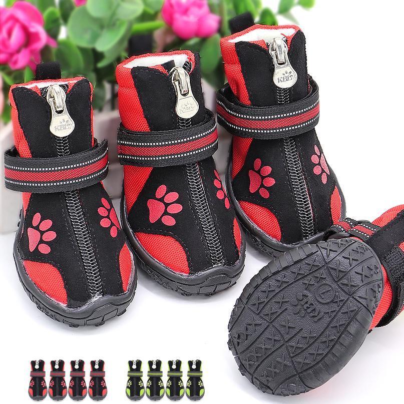 4pcs Pet Dog Shoes Impermeabile Stivali per cani riflettenti all'aperto Scarpe da pioggia da esterno Scarpe antiscivolo calze calze calze per medio grande do bbybqw