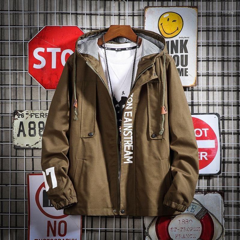 Chaquetas de mujer Parejas 5xl Otoño Primavera Bolsillos casuales Moda abrigo impreso Cremallera Lleve Outwear Tops Coat Z2261
