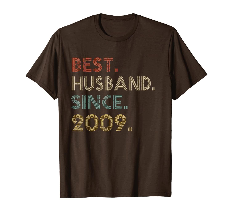 10 ° regali di anniversario dei matrimoni Best marito dal 2009 TEE