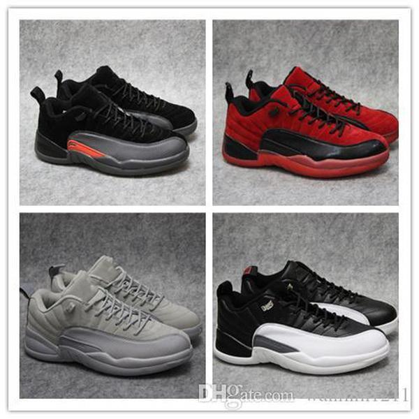 Nike Air Jordan Max Adidas Yeezy Boost 350 Großhandel 12 Wolle weiß schwarz grau rot Top-Qualität 12s xii Mensbasketballschuhe Outdoor-Trainer Männer Turnschuhe freies Verschiffen