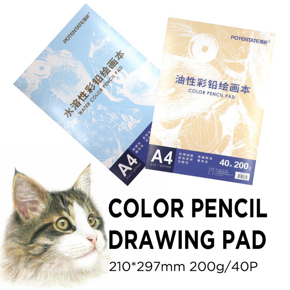 Potenzata Aquarell Bleistift / Öl Bleistift Pad 200 / GSM Skizzenbuch Zeichnung Bücher Handgemaltes Säschmuck für Künstlerstudent