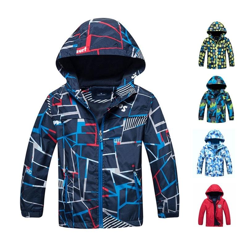 Primavera Autumn Boys Jacket Impermeable A prueba de viento Niños Outerwear Outerwear Warmo Polar Fleece Abrigo con capucha Bebé Ropa para niños para 3-12Y 201126