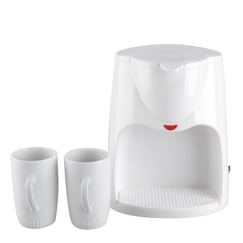 500W 2 Cups Drip Coffee Automatic Electric Espresso Steam Coffee Maker Casafern Machine,EU Plug