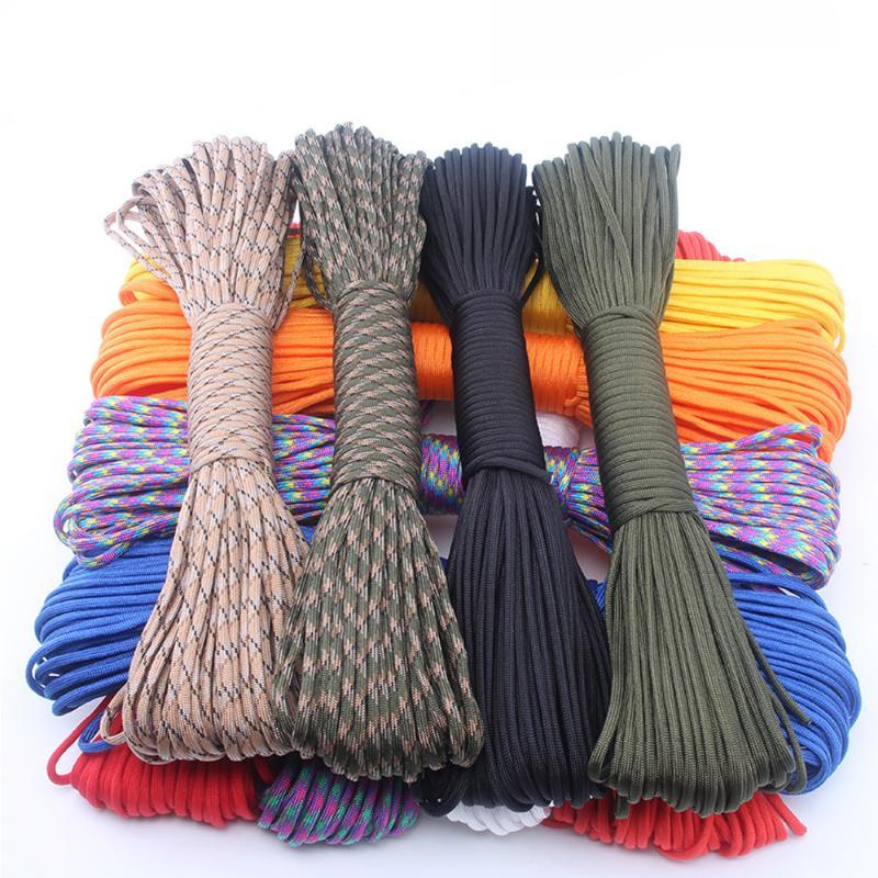 Paracord 550 Parachute Cord Lanyard Mil Spec Type III 7 Strand rope bushcraft for outdoor Camping hiking fishing 100 Feet