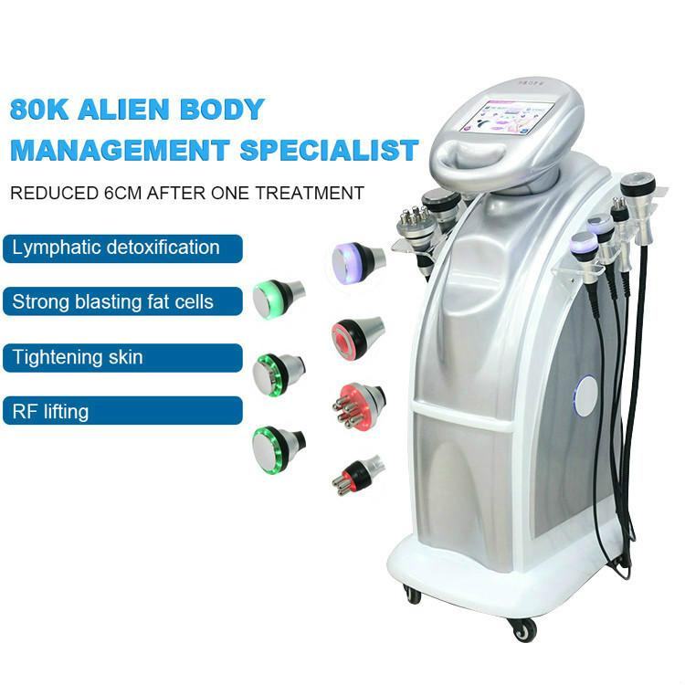 80k Cavitação RF Ultrasonic Lipo Vácuo Vácuo Cavitação Ultrasônica Perda de Peso Body Slimming Beauty Machine Envio grátis