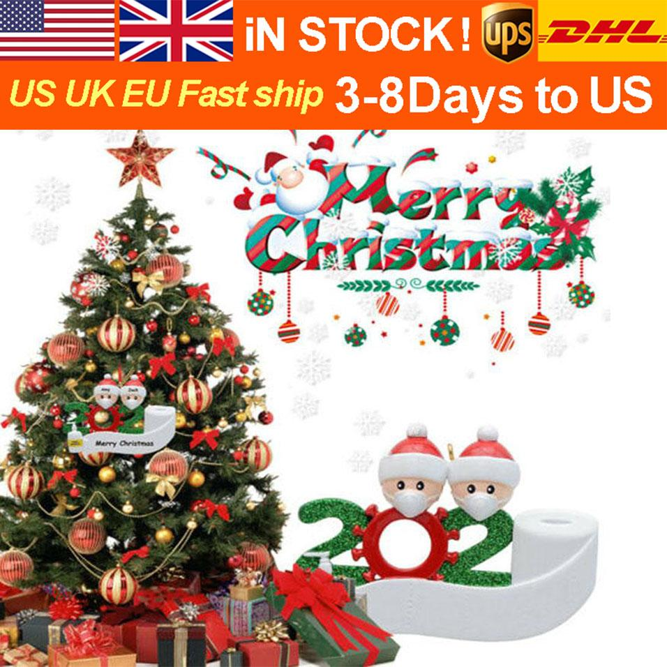 Christmas fashion Santa DIY name blessing words PVC gift Christmas Tree Decoration pendant various specifications optional