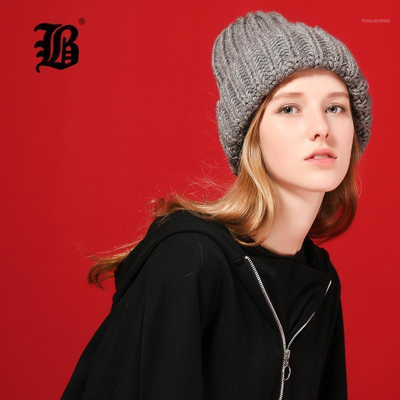 [FLB] Tricottare lana palla palla cesulies berretti casual streetwear spesso caldo cappello cappello da donna autunno inverno 2020 carino berretto cappello 170421