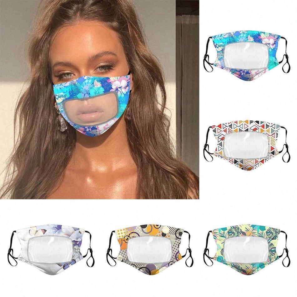 Ağız 6dX4 # Maske Maskeler Renkler Moda Şeffaf Görünür Tekrar Kullanılabilir Dudak Baskılı OOA8209 Yıkanabilir Yüz Maske 5 pamuk ağız 6dX4 # Maske Maskeler Col Kane