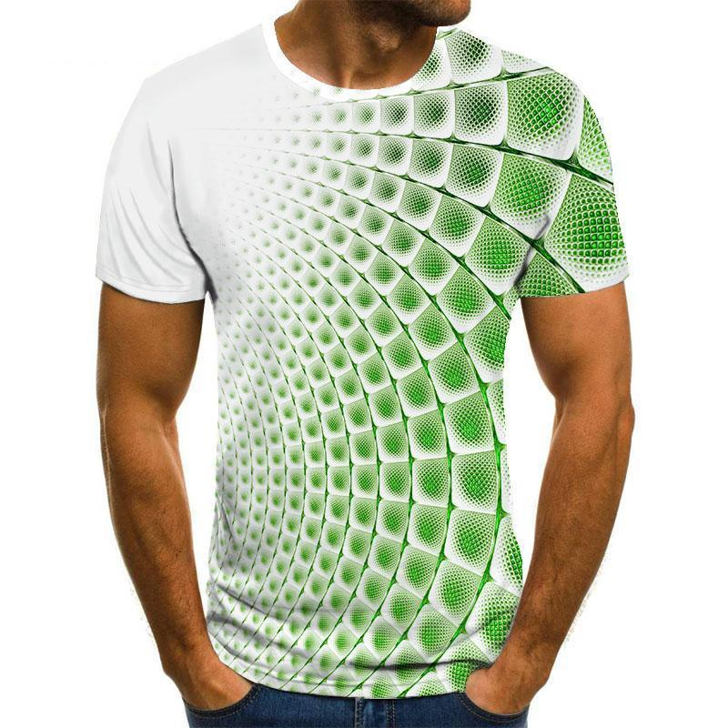 Летняя улица O-шеи с короткими рукавами топы панк стиль мужская одежда повседневная 3D печать футболка