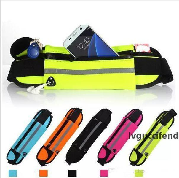 Waterproof Waist Bag Outdoor Running Sport Jogging Belt Fanny Pack Pouch Water Resistant Phone Case For iPhone X XS MAX XR 8 7 6 Plus DHL