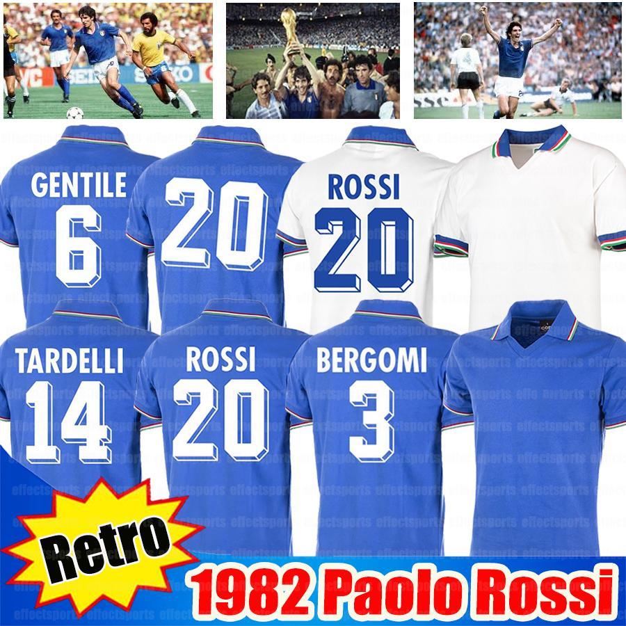 Retro 1982 Paolo Rossi R.Bagio Soccer Jerseys 10 # Totti 21 # Pirlo 7 # Del Piero Jerseys الرجعية 1994 1996 1998 2006 قمصان كرة القدم جيرسي