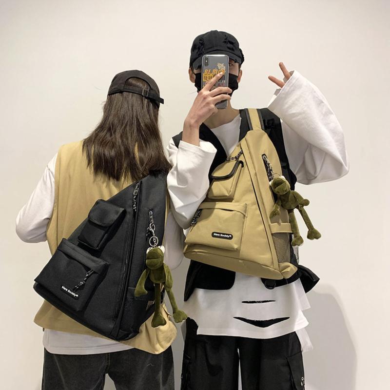 Hombres Impermeable Bolsa de Pecho Mujer Viajes Deporte Hip Hop Hombro Sling Mochila Kanye Capacidad Grande Bolsos Crossbody Bolsos Táctico Regalo