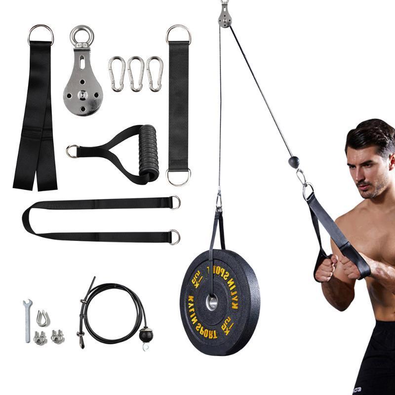 Câble de câble de longueur 3M réglable Câble de câble de corde Pully Facultatif pour l'entraînement de levage de poids de gymnastique