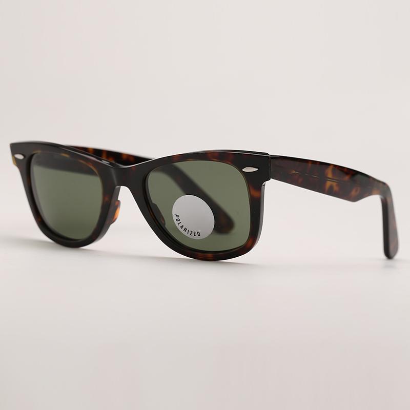 Мужские Солнцезащитные очки Поляризованные Солнцезащитные Очки Солнцезащитные Очки Планка Стекло Стекло Поляризованные Линзы УФ Защита Стеклянные Линзы с бесплатным Кожаным Чехол