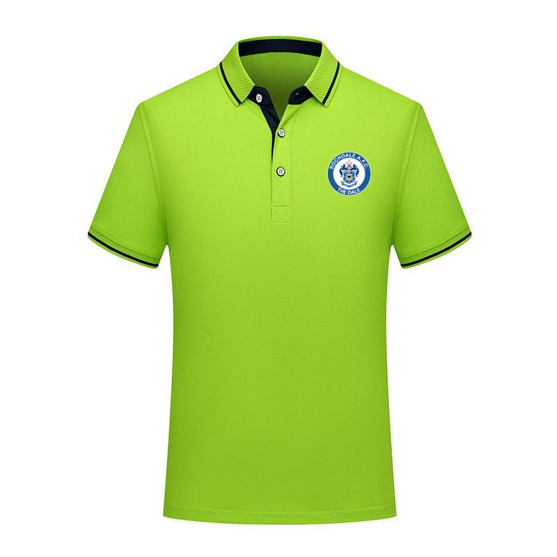 Rochdale AFC hommes le football coton mode été chemise polo manches courtes hommes de football cravate polo en jersey de formation polo