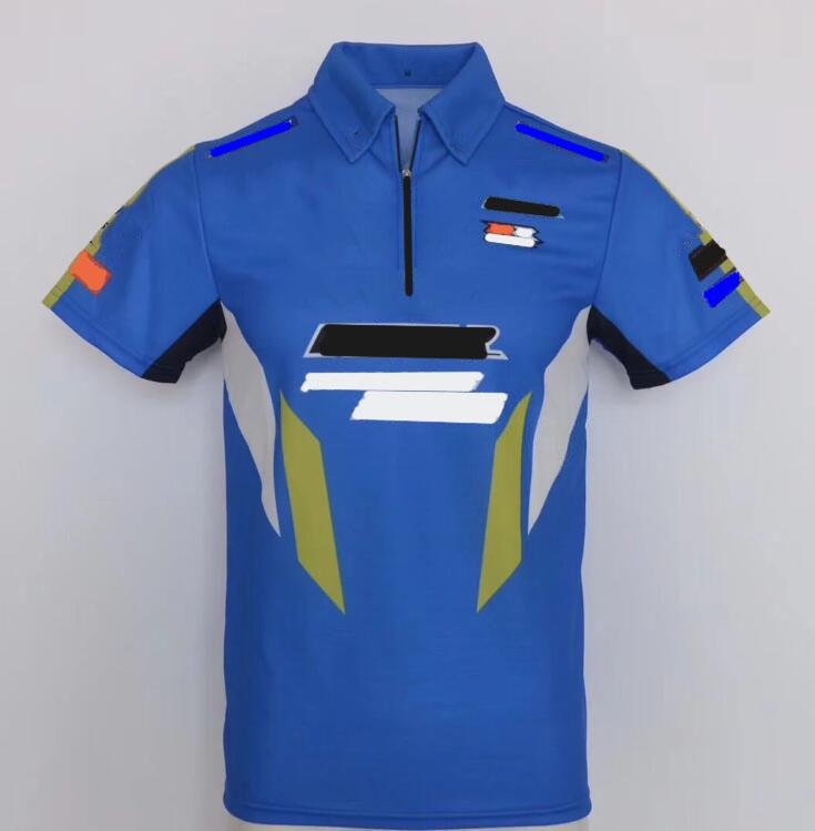 Off-Road Motorcycle Polo Shirt camiseta camiseta Camiseta Tendencia de los hombres Cuello de moda Lapel Trabajo Traje de carreras Ropa de motocicleta Secado rápido Transpirable