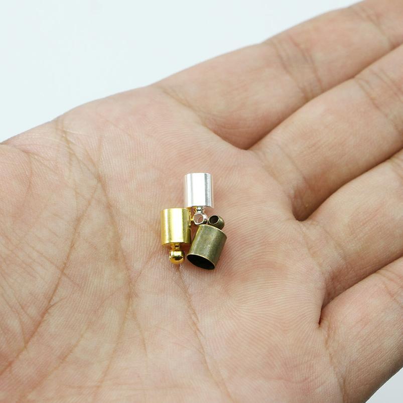 50pcs / lot Tassel Codule de cordon de cordon de sertissage Casquettes Casquettes 3 4 5 6 7 8 9 9 10 mm TIP D'END CAP WMTXUE