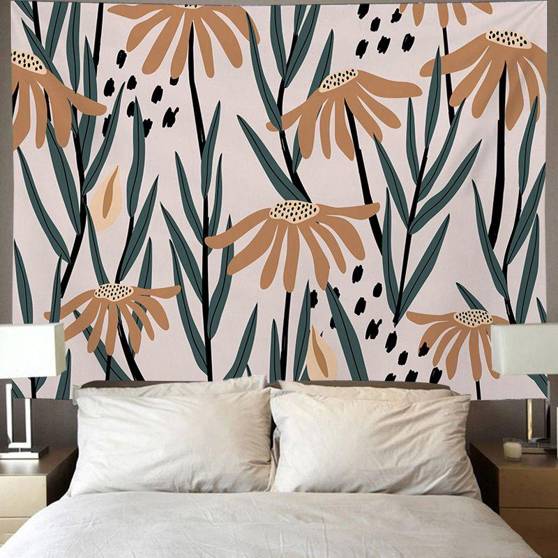 Cute Room Headboard Bedside Decor Floral Tapestry Sunflower Daisy Tapiz Plant Flower Wall Hanging Home Decoration