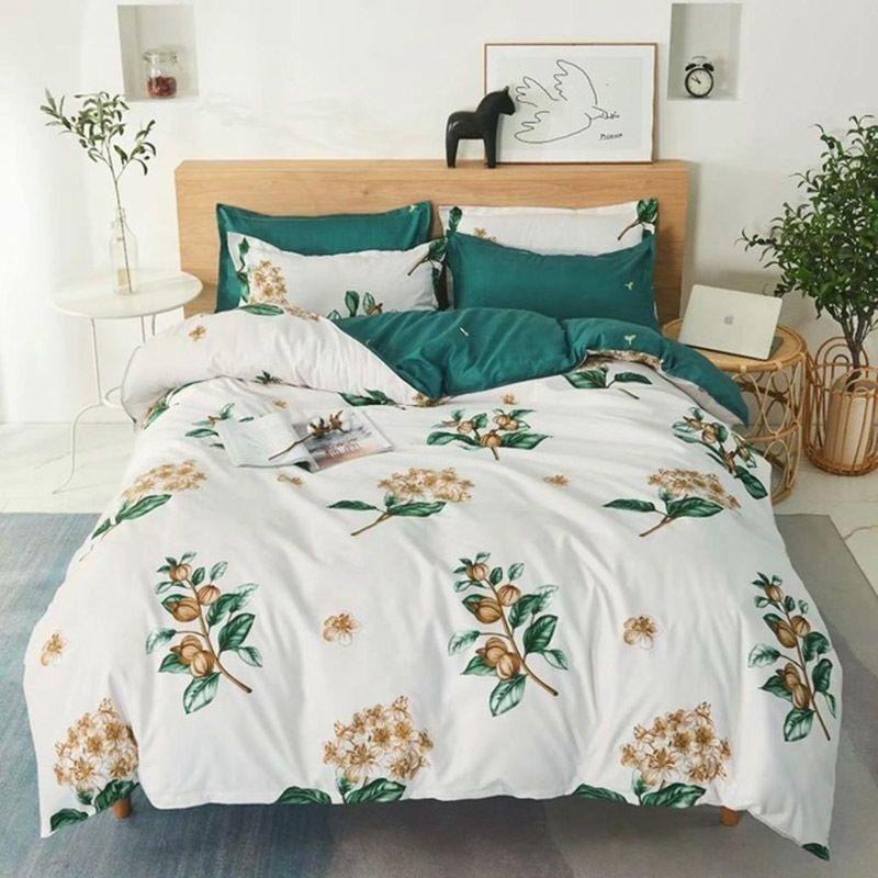 Warmsliving Partded Bedging Set Набор Home Textile Высокое Качество Прекрасный Узор с Звездой Дерево Цветочная Пододеятельная Обложка набор LJ201127