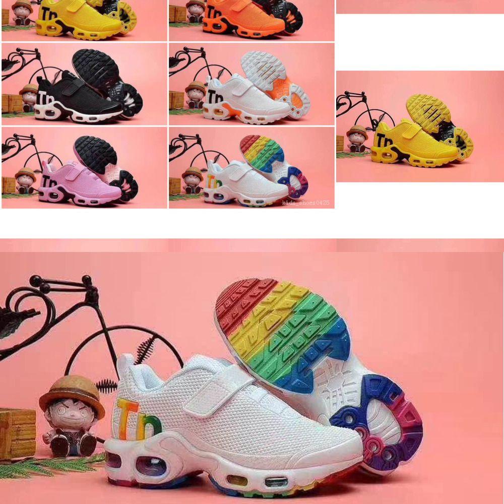 bambini caldo più Tn bambini Parent Child Shoes Casual per ragazza del neonato scarpe da ginnastica bianche Running Trainer Shoes BCVR