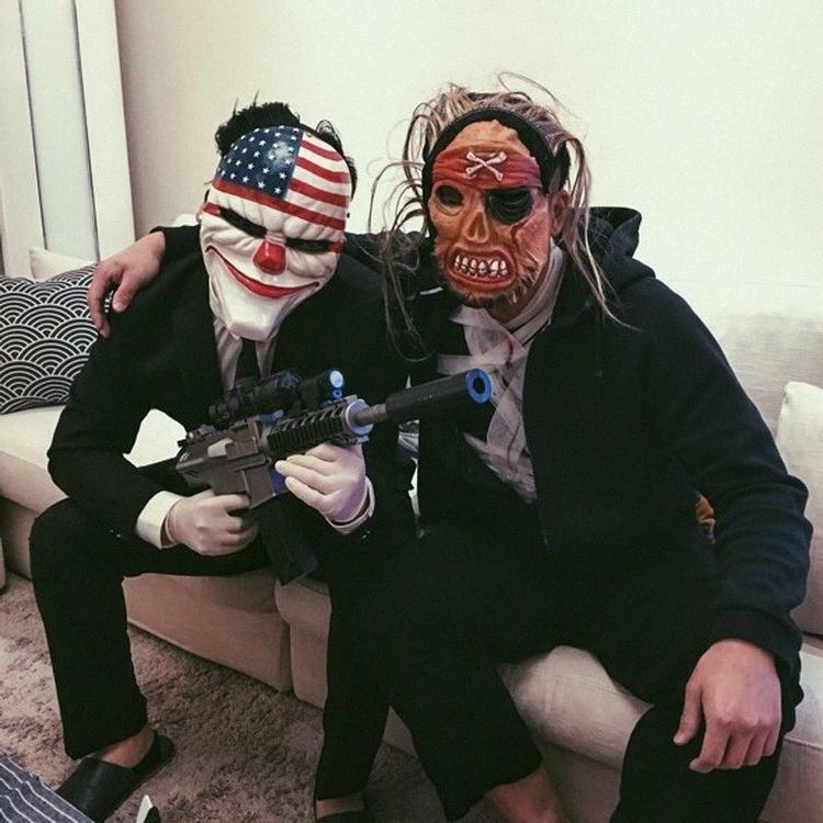Spiel Ernte Tag 2 Masken Cos Halloween Robber Joker-Animation Pay Spielen Tag Ernte Masken-Maskerade-Masken-Sets Maskerade Masken Silber Ty6M #