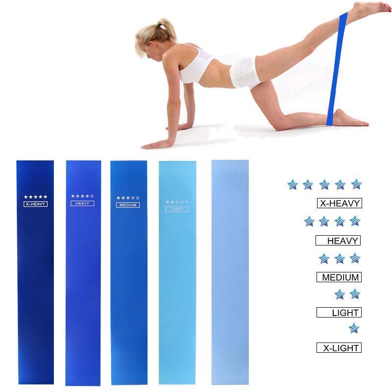 Widerstandsbänder Yoga Crossfit 5 Level Gummi Training Pull Seil für Sport Pilates Expander Fitness Gummi Fitnessstudio Trainingsgeräte