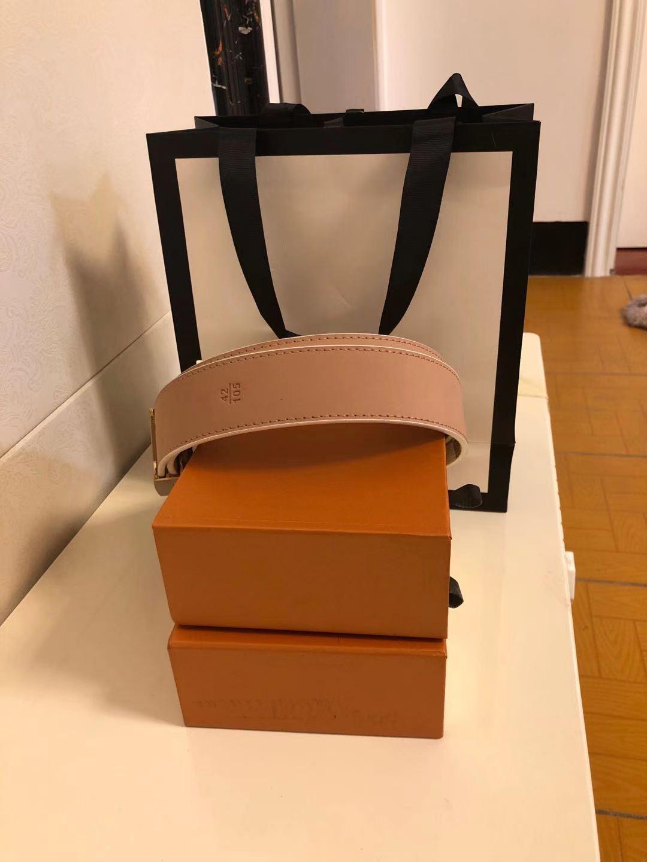 Cintura di moda per uomo da uomo Casual Pin Doppia lettera fibbia ad alta imitazione cinture in pelle vita con scatola arancione