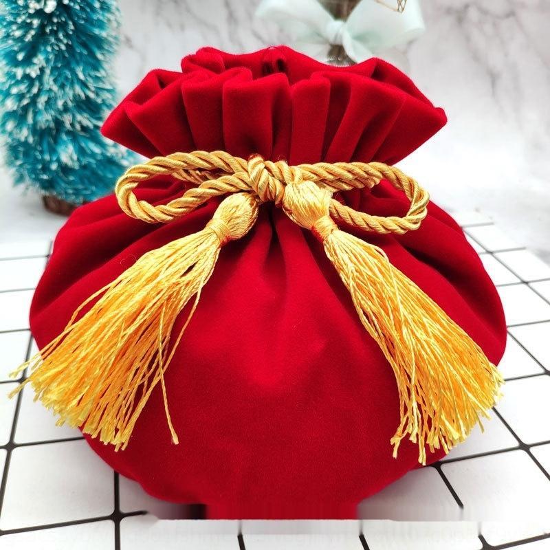 ZTMA7 라운드 바닥 축복 가방 포장 Bagjewelry 작은 벨벳 선물 포장 봉투 벨벳 가방을 인쇄 할 수 있습니다
