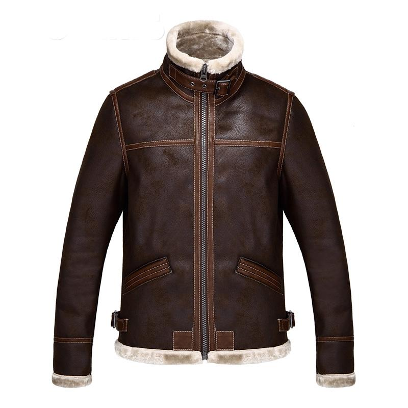 Neuer 2020-Qualitäts-neue Resident Evil 4 Leon Kennedy Lederjacke Kostüm-Pelz-Mantel für Männer plus Größen S-4XL