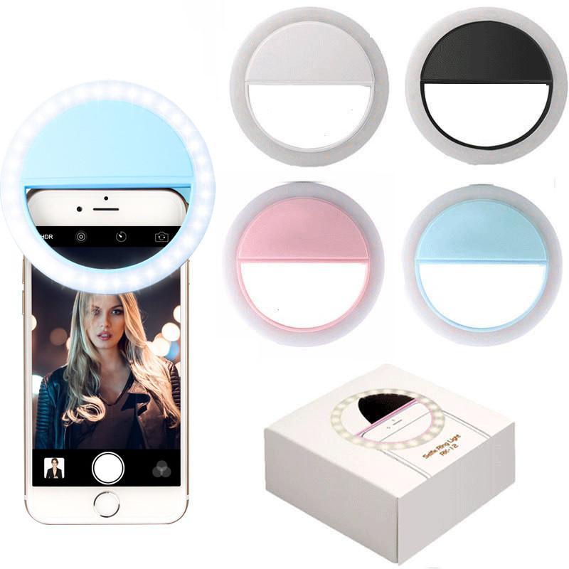 Şarj LED Flaş Güzellik Dolgu Selfie Lambası Açık Selfie Halka Işık Şarj Edilebilir iPhone 12 için Samsung Huawei Mi için Tüm Cep Telefonu için