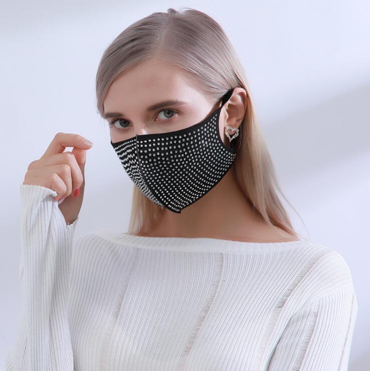 Рта заводская пылезащитная мода Bling алмазные защитные маски моющиеся многоразовые женщины красочные стразы бокарные дсу pmkwq