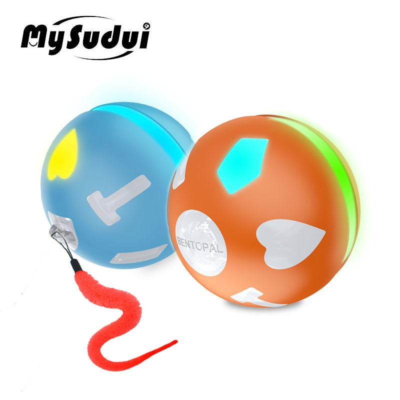 Pet Elektrische Katze Rolling Ball Toy USB-LED-Kugel-Katze-Spielwaren Intelligenz Jumping Ball-Hundespielzeug Interactive Automatische Juguete Gato 201109