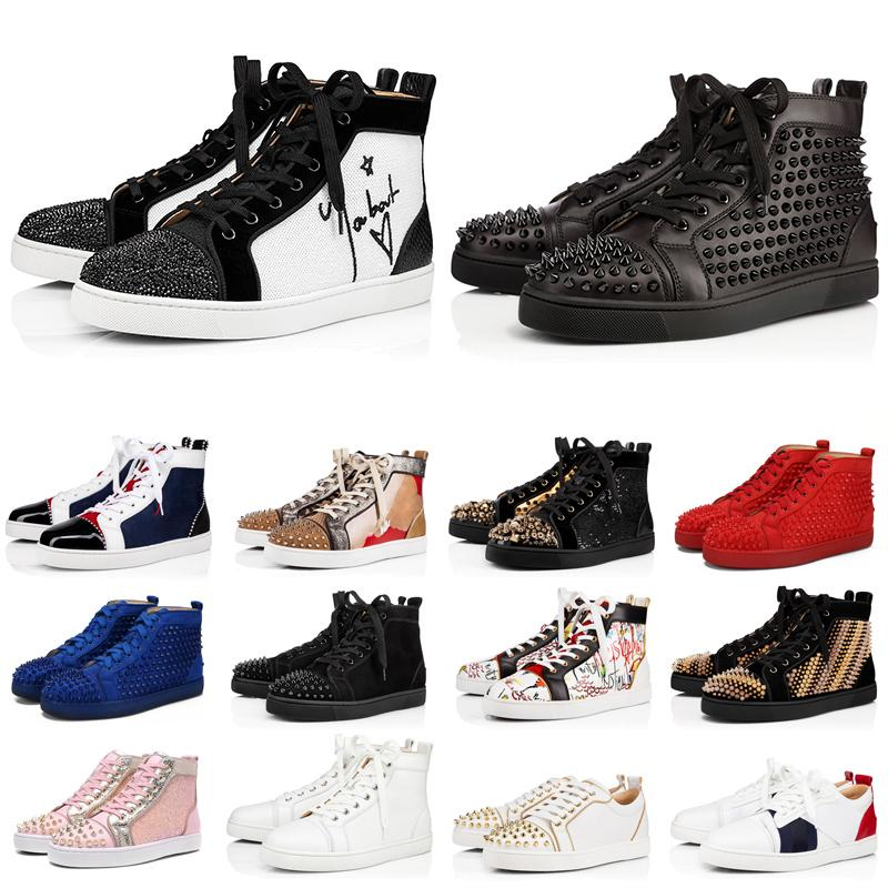 بيع القيعان الأحمر أحذية رجالي المسامير النساء chaussures جلد الغزال جلدية مسطحة عارضة أحذية الرجال حزب عشاق رياضة 3647