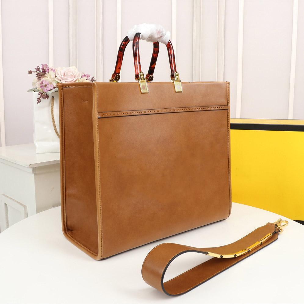 Großhandel Luxus Designer Handtasche Umhängetasche Hohe Qualität Einkaufstasche Ledermaterial Bernstein Doppelgriff Große Kapazität Brief Schulter