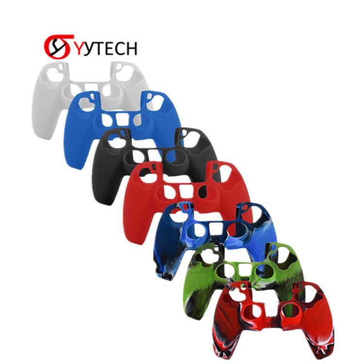 Syytech حالات واقية سيليكون شل يغطي جلد شعور الجلد لبلاي ستيشن 5 PS5 لعبة الملحقات
