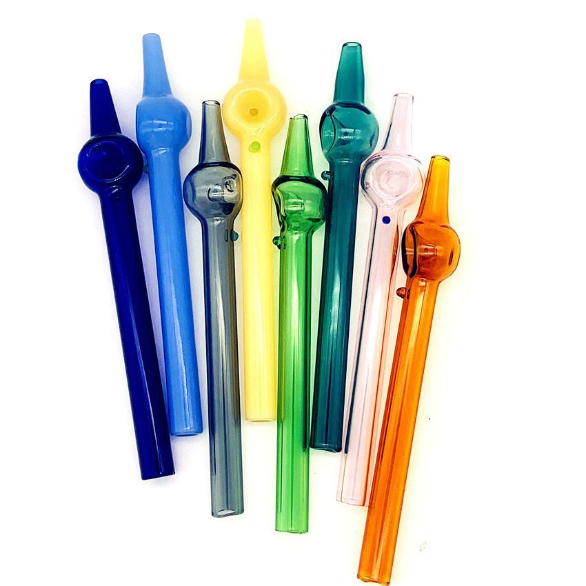 Heiß billig 6 Zoll Nektar Kollektor Dicke Klarglasfilter Tipps Mini Rig Stickglasrohr Pyrex Ölbrenner Pfeife Tabak Handleitung