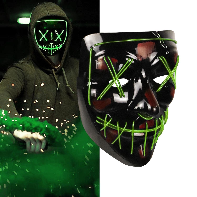 Up Halloween luce mascherina del partito ha condotto l'epurazione elettorale Anno Grande divertenti maschere costume cosplay Festival Forniture Glow in Dark con DHL