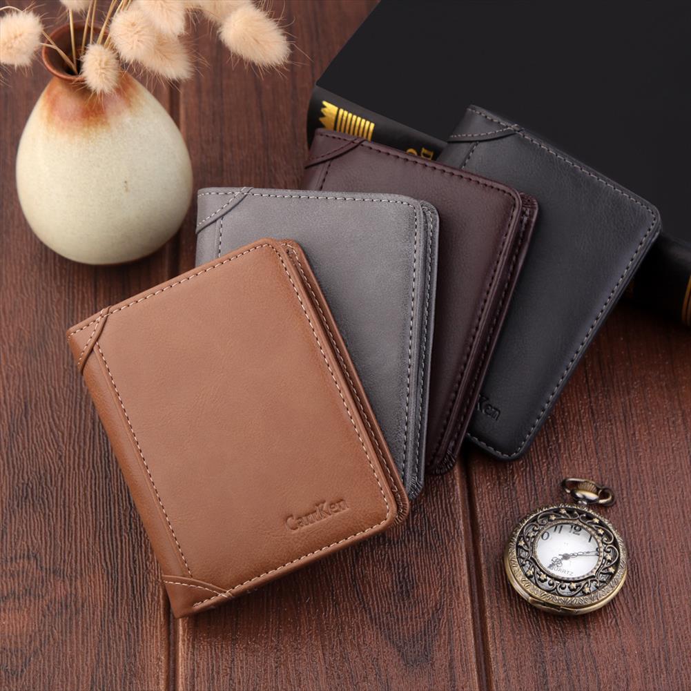 Brieftaschen Brieftasche Männer Mann Tasche Männliche Leder Top Qualität Marke Clutch Leder Brieftasche Männer Geld Geldbörse Qualität Garantie DKKVX
