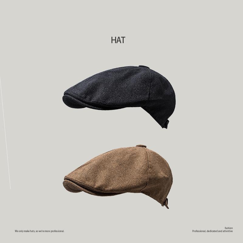 Primavera otoño moda mujeres hombres retro periódico sombrero boina salvaje vintage casual sombreros de lino unisex color sólido snapback octogonal gorra