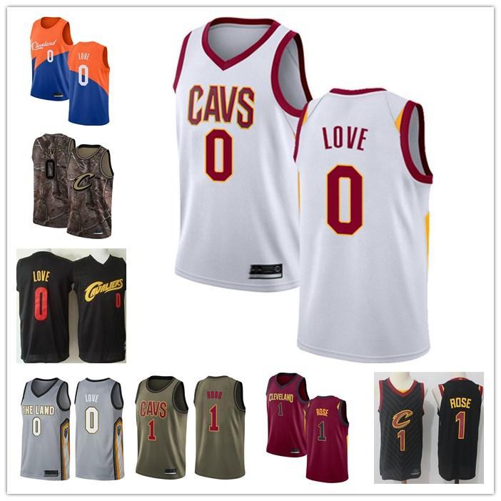 Mujer de los hombres de ClevelandCavaliers0 Kevin Love # 1 Rodney Hood Las finales Patch Baloncesto Declaración Auténticoedición Jerse