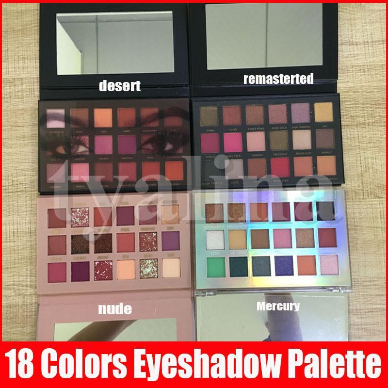 Trucco degli occhi 18 colori della gamma di colori strutturato Nude Rose Gold Pressed Powder Eye Shadow 5 stili per scelgono