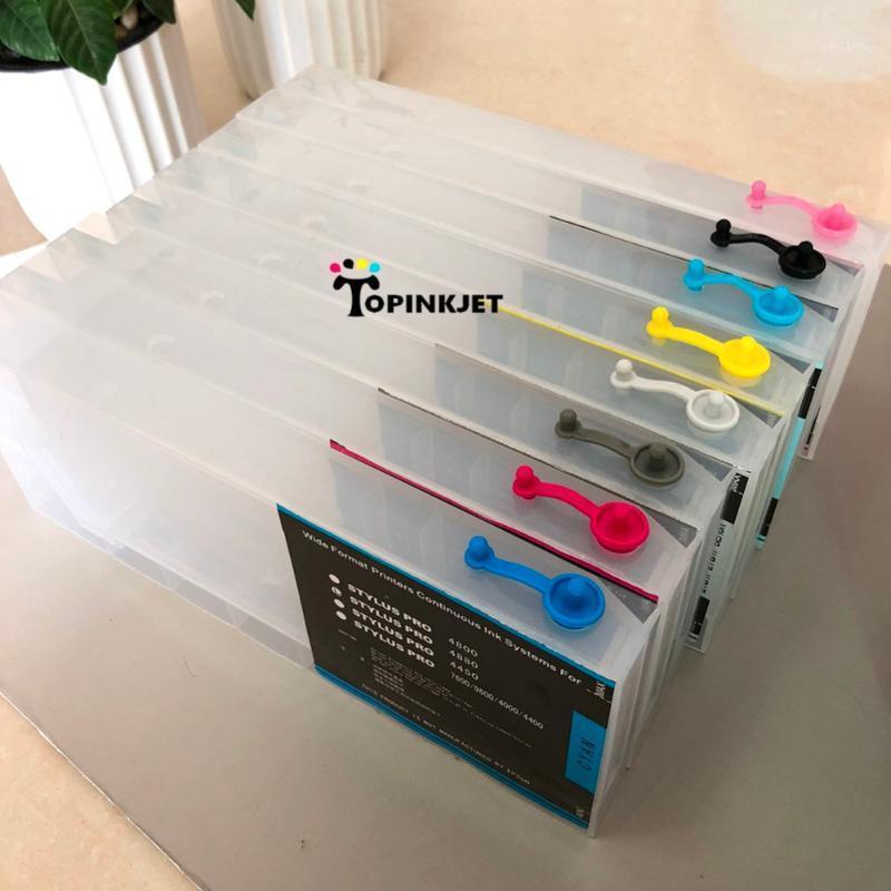 Cartuccia d'inchiostro compatibile con chip ricaricabile per 4000/4400/4450/4800/4880/4450/4800/4880/7600/9600 Wide Format Printer1 Cartucce