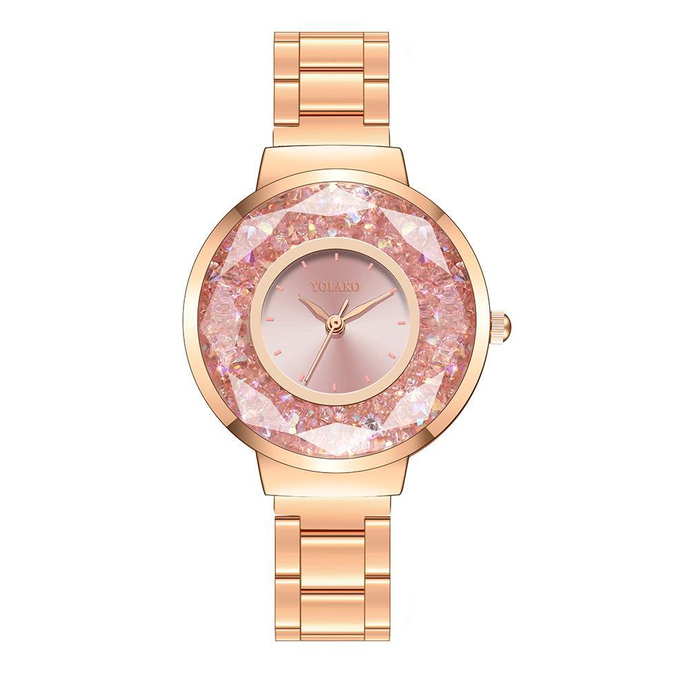 Nuove donne Orologi di moda orologio da donna con strass braccialetto in acciaio orologio da polso da donna in lega orologio al quarzo analogico relogio feminino