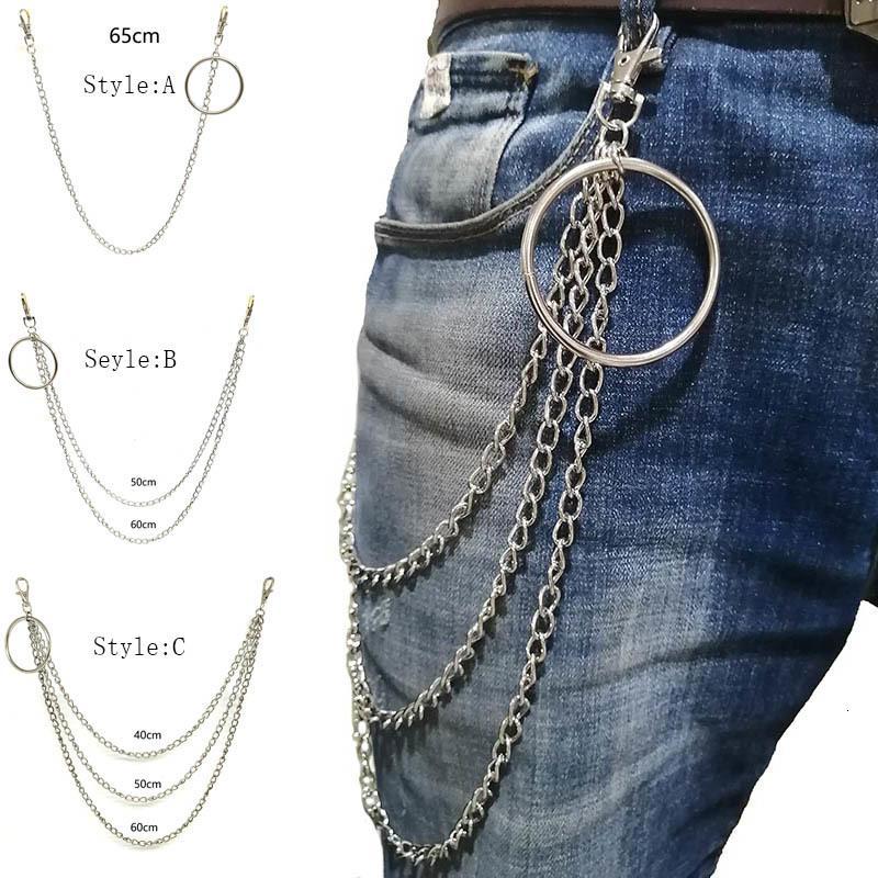 السراويل سلسلة ro الشرير محفظة سلاسل محب سراويل المفاتيح المفاتيح الهيب هوب الرجال المجوهرات